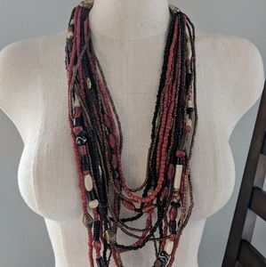 Beaded Chico's Layered Necklace
